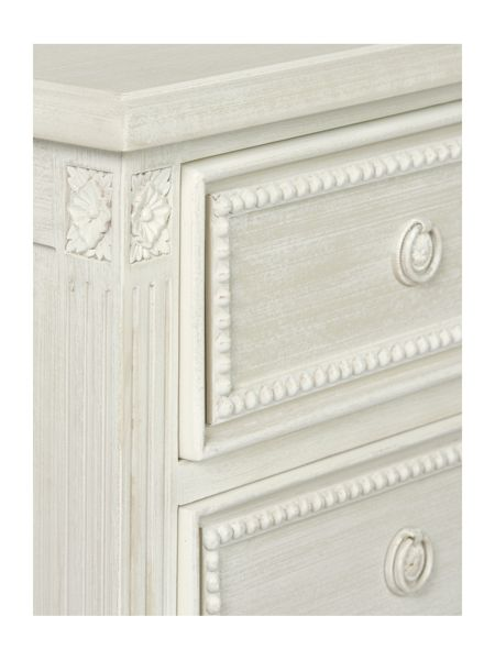 Shabby Chic Heather 3 drawer bedside