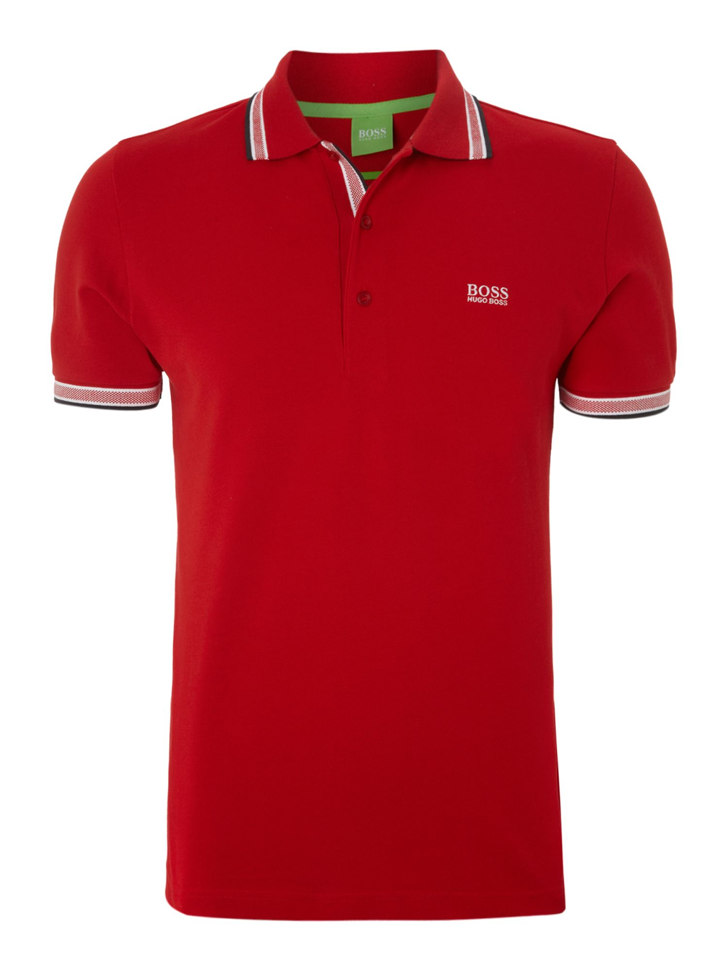 Men's Hugo Boss Paddy Regular Fit Tipped Logo Polo Shirt, Wine