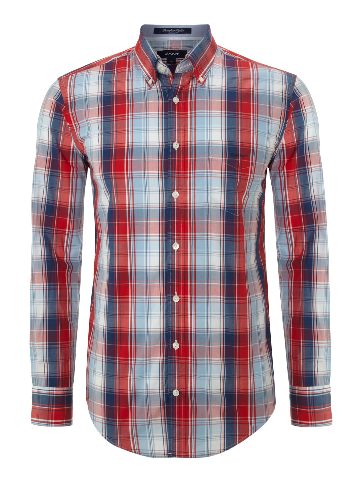 Long sleeve multi gingham shirt