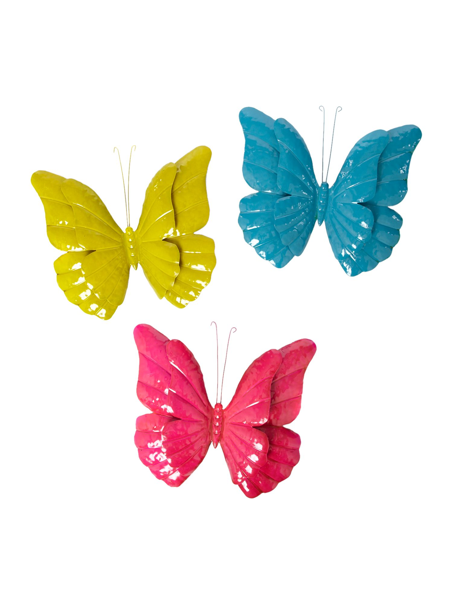 Set of 3 wall butterflies