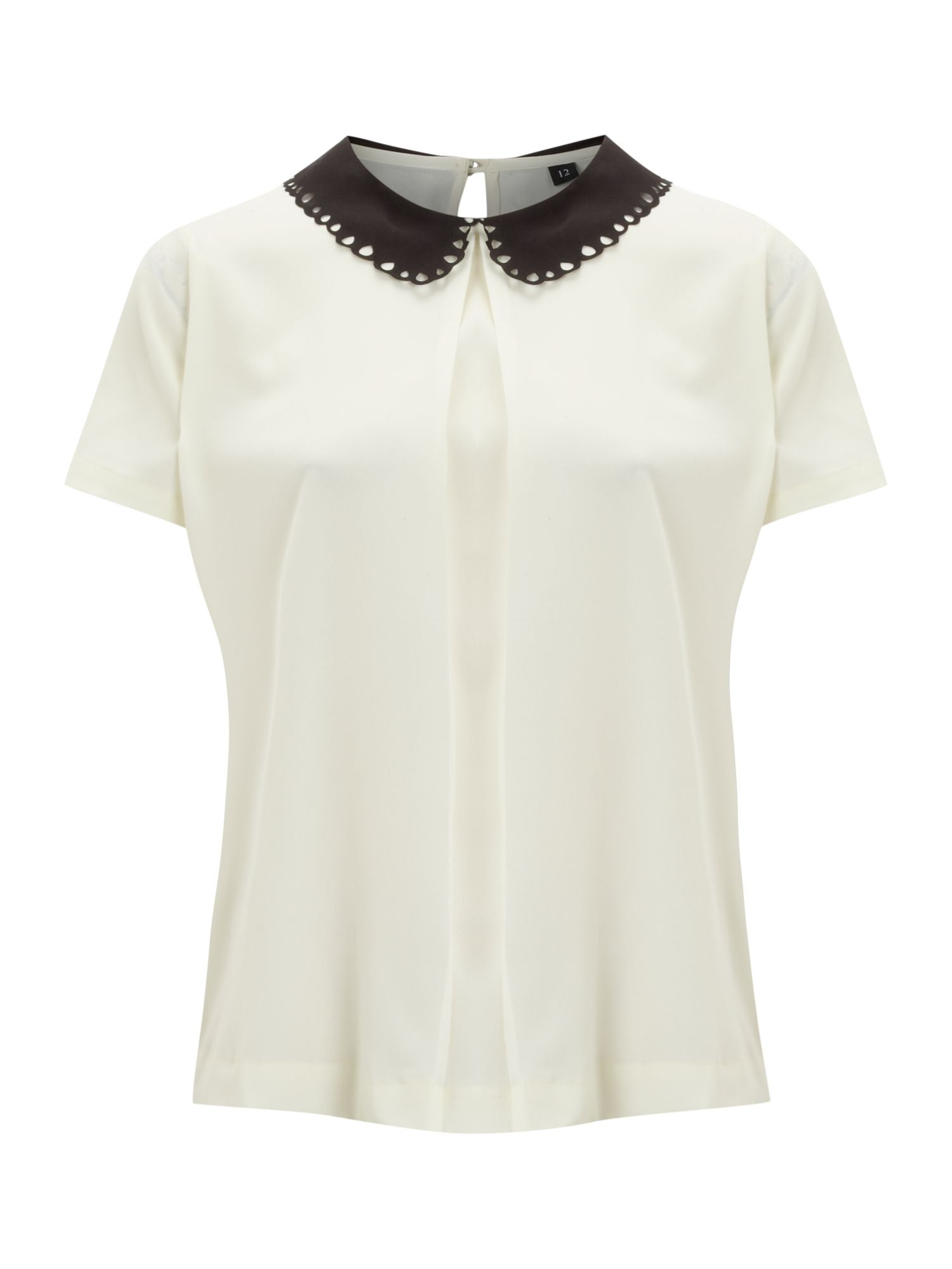 Solid collar blouse