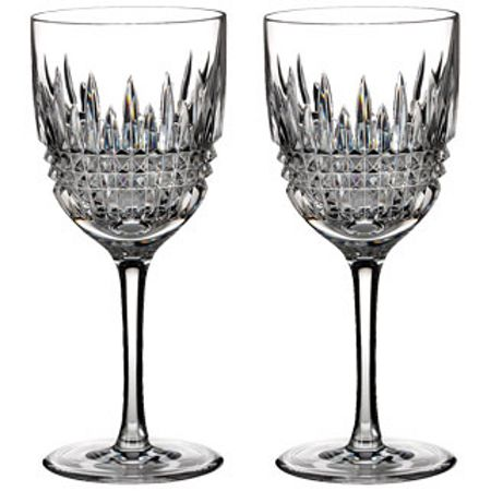 Waterford Lismore diamond red wine goblet, set of 2