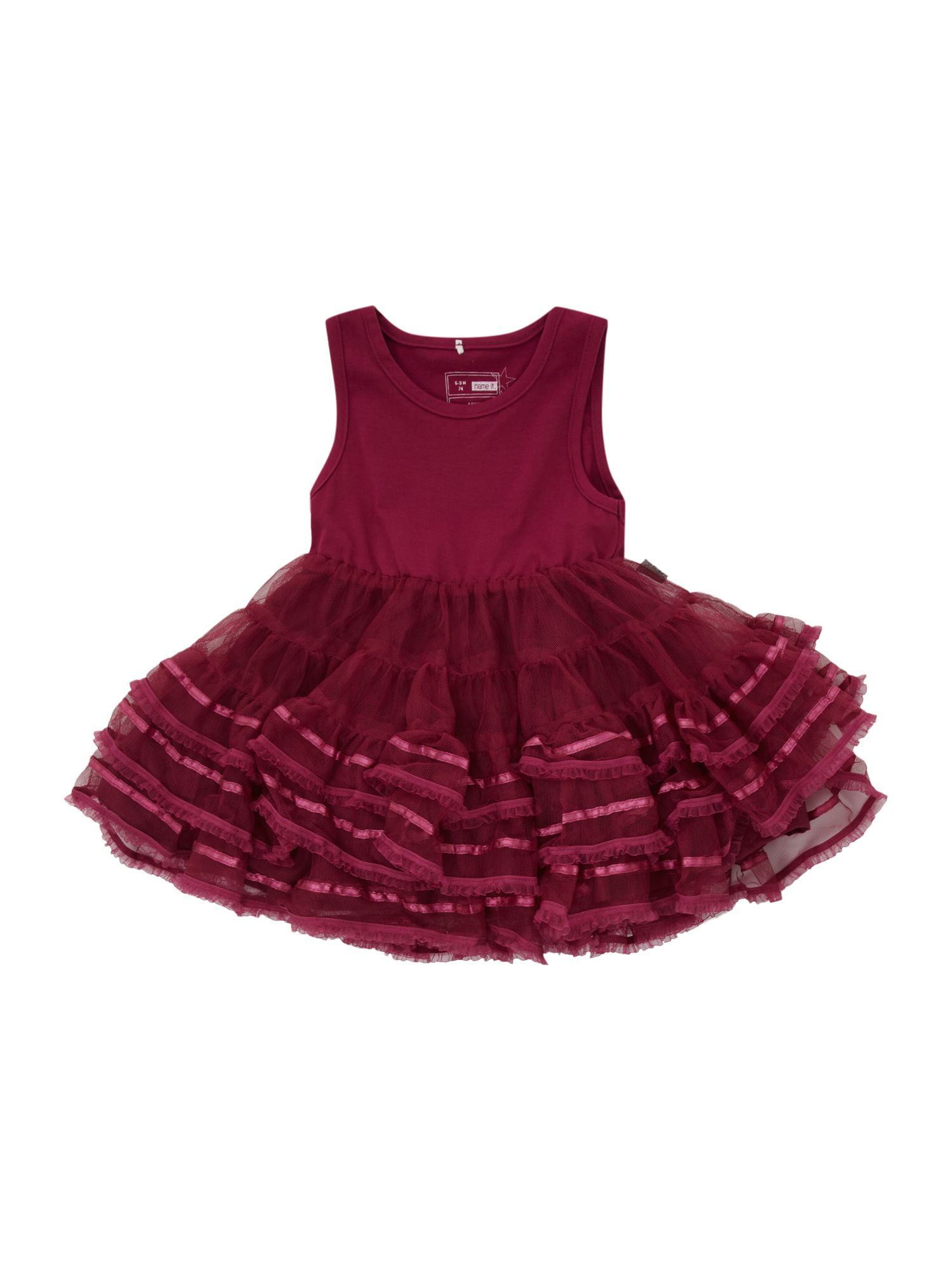 Girl`s sleeveless tulle party dress