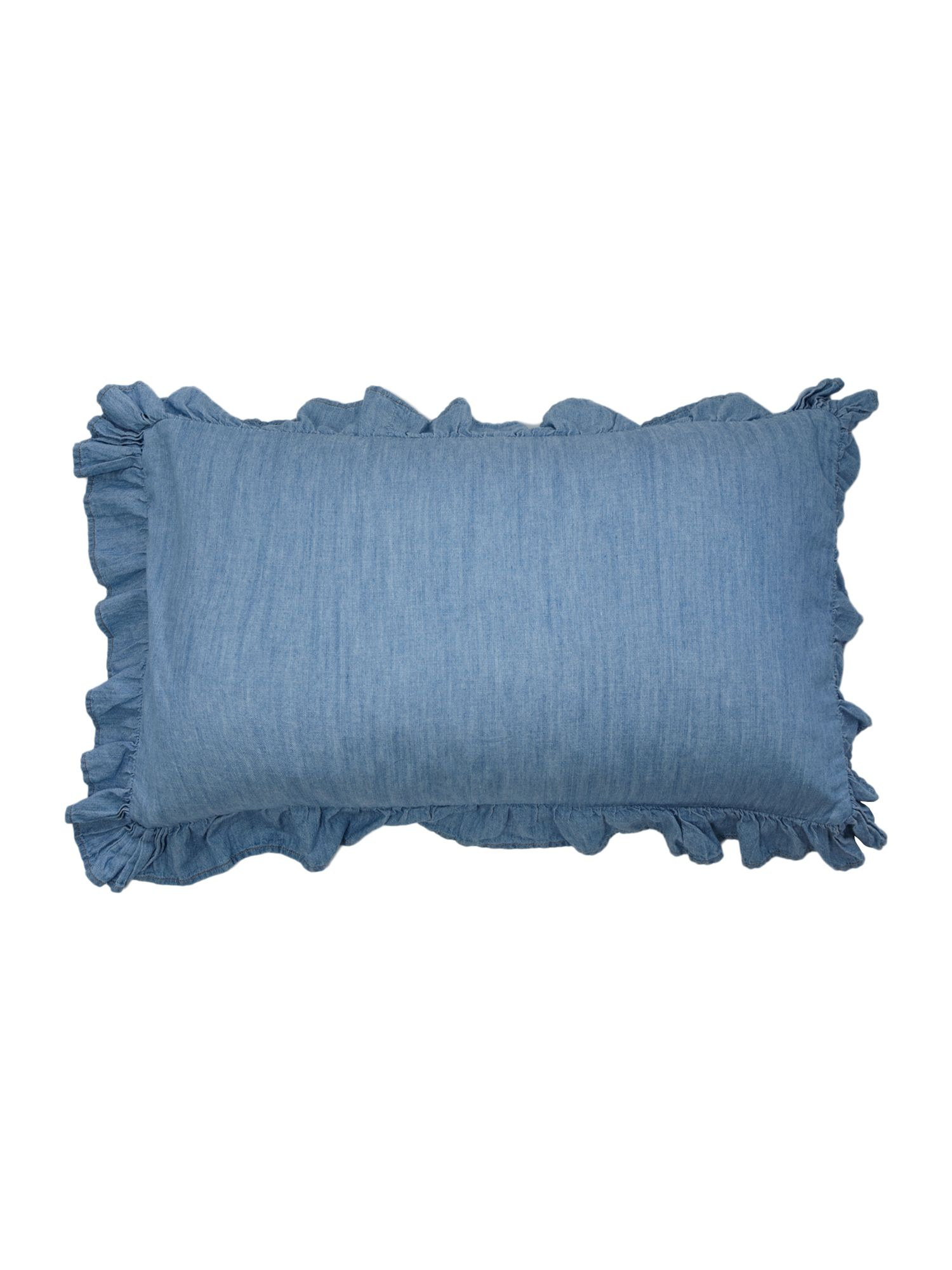 Pretty denim cushion