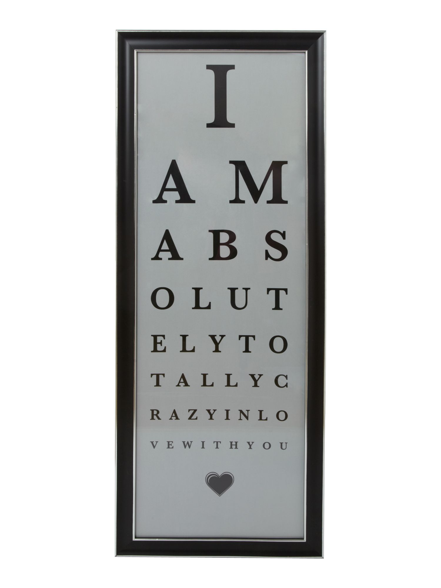 Eye test frame