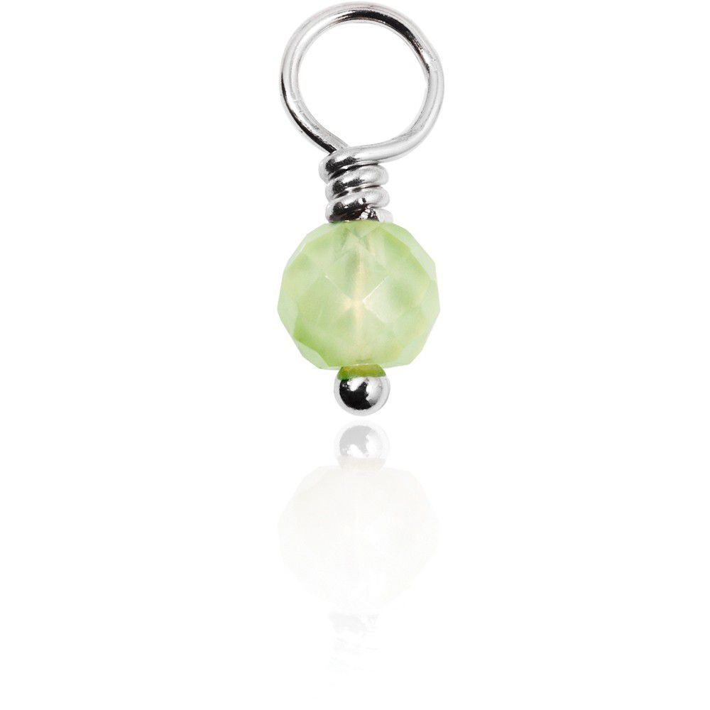 Prehnite Gemdrop On Silver Wire