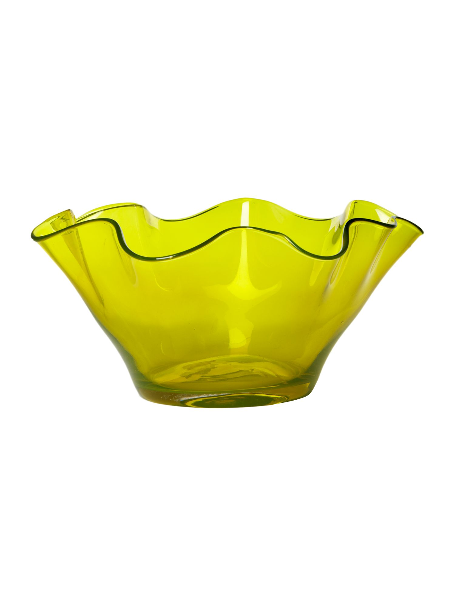 Lime handkerchief bowl