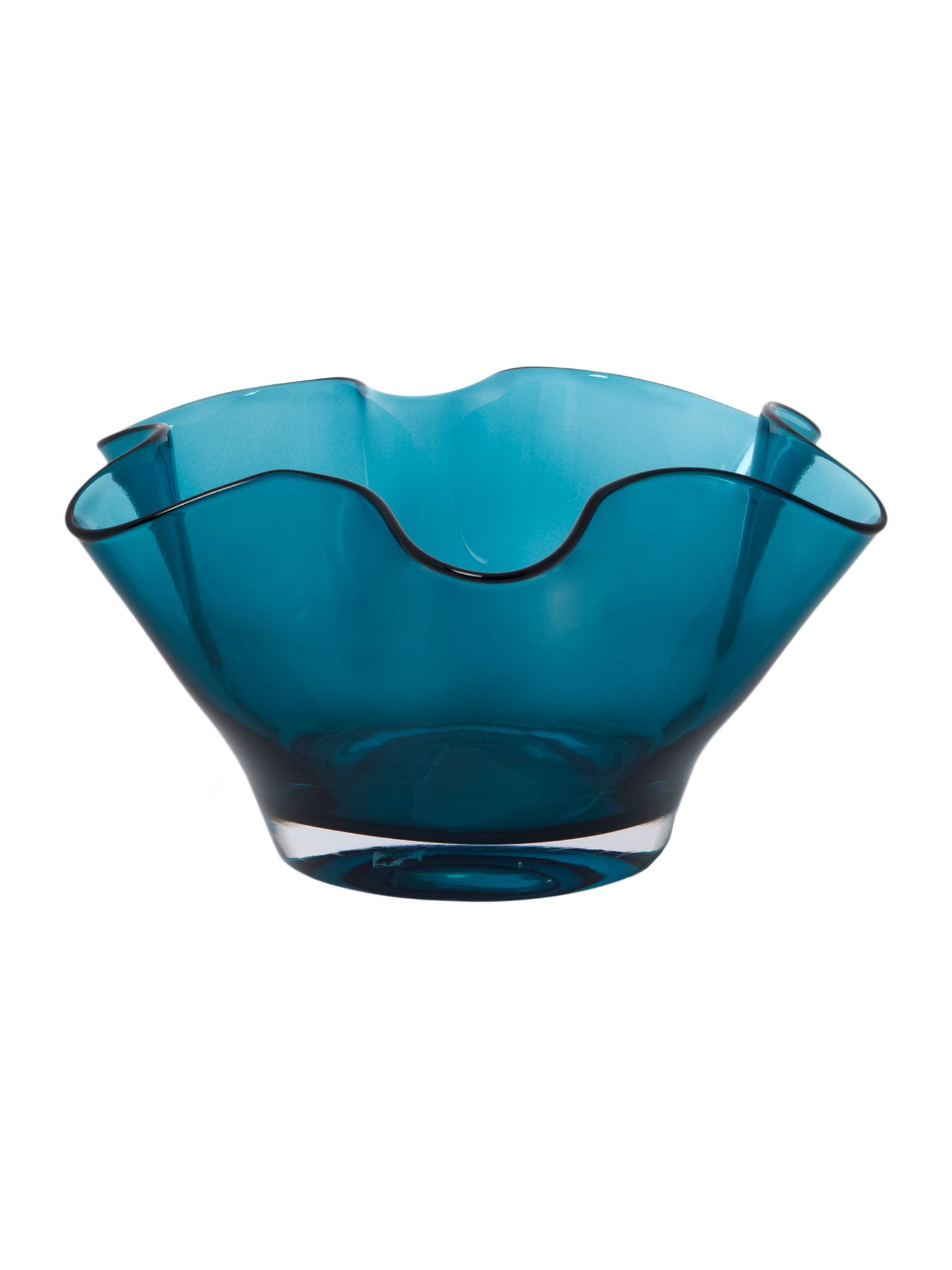 Teal handkerchief bowl