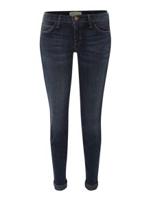 Current Elliott The Rolled Skinny jeans with tux lace detail