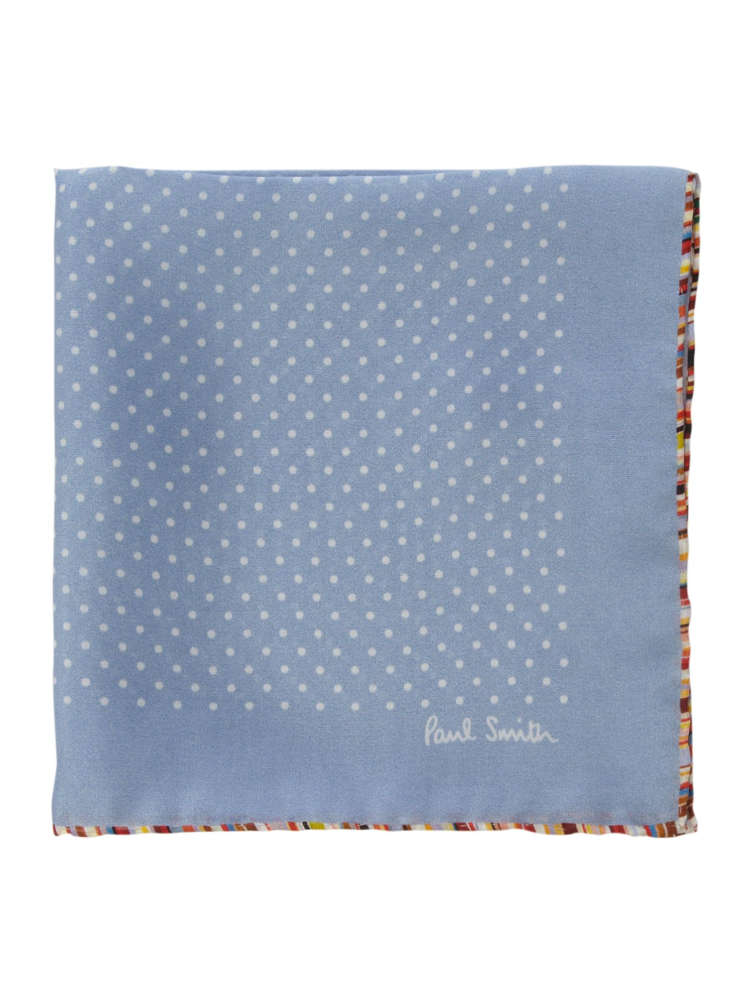 Silk polka multi edge handerchief