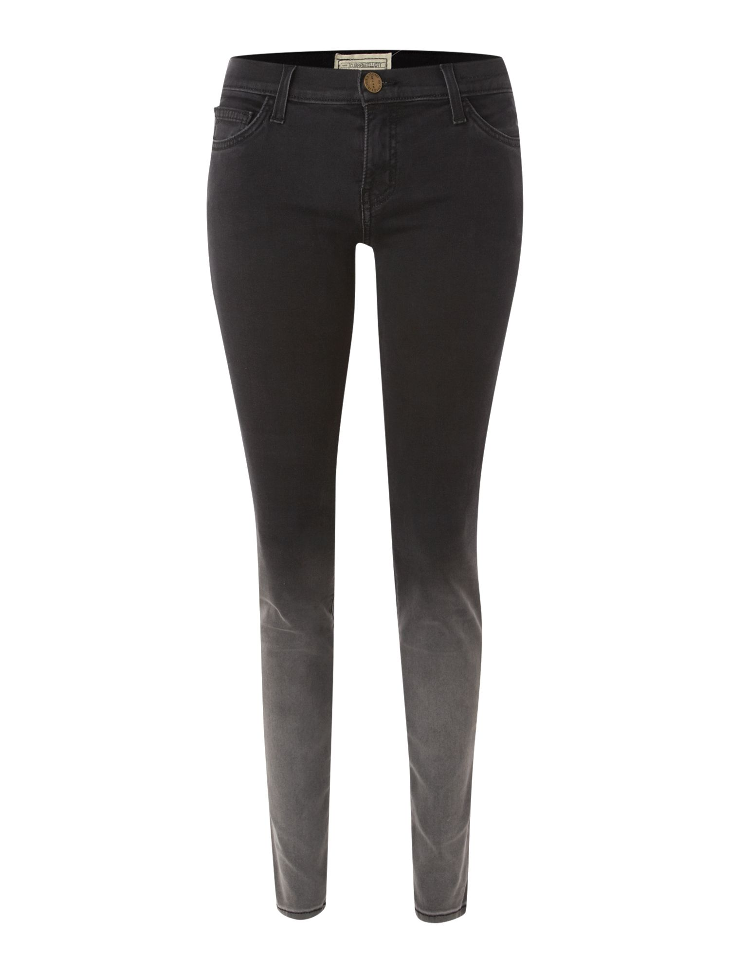 The Ankle Skinny ombre jeans in Black Fade