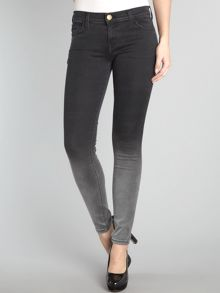 Current Elliott The Ankle Skinny ombre jeans in Black Fade