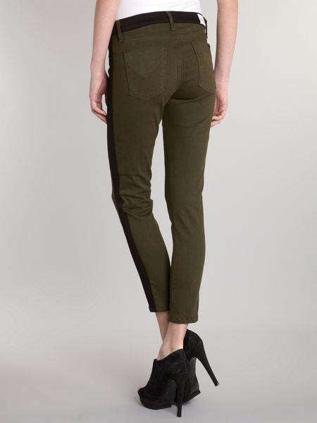 Hudson Jeans Leeloo skinny cropped jeans in Evergreen
