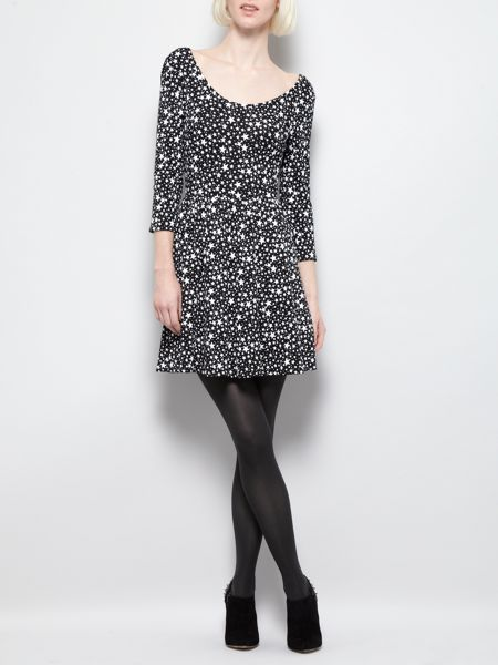 Therapy All over printed star jersey skater dress