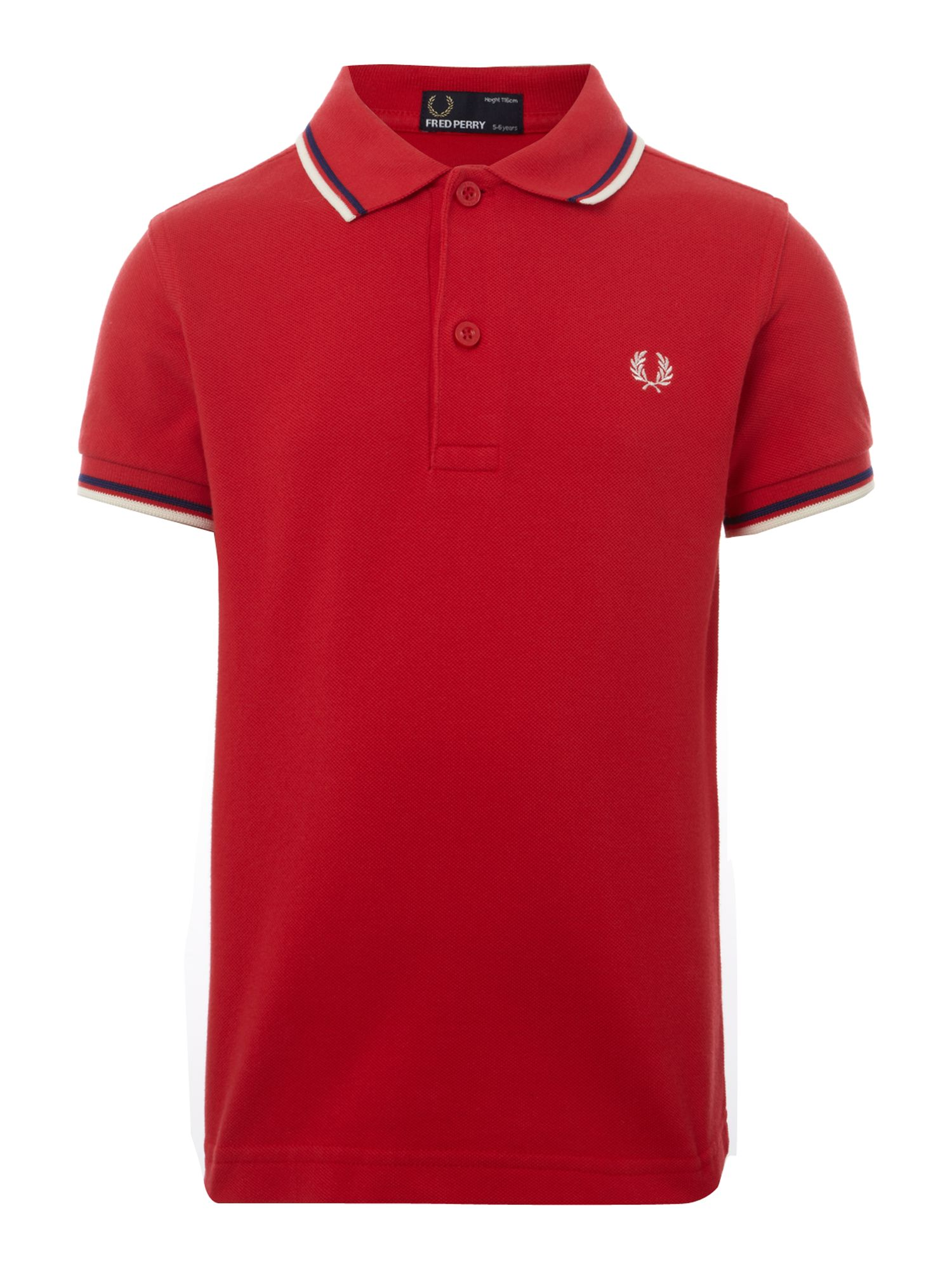 Fred Perry Boys twin tipped classic polo shirt Red