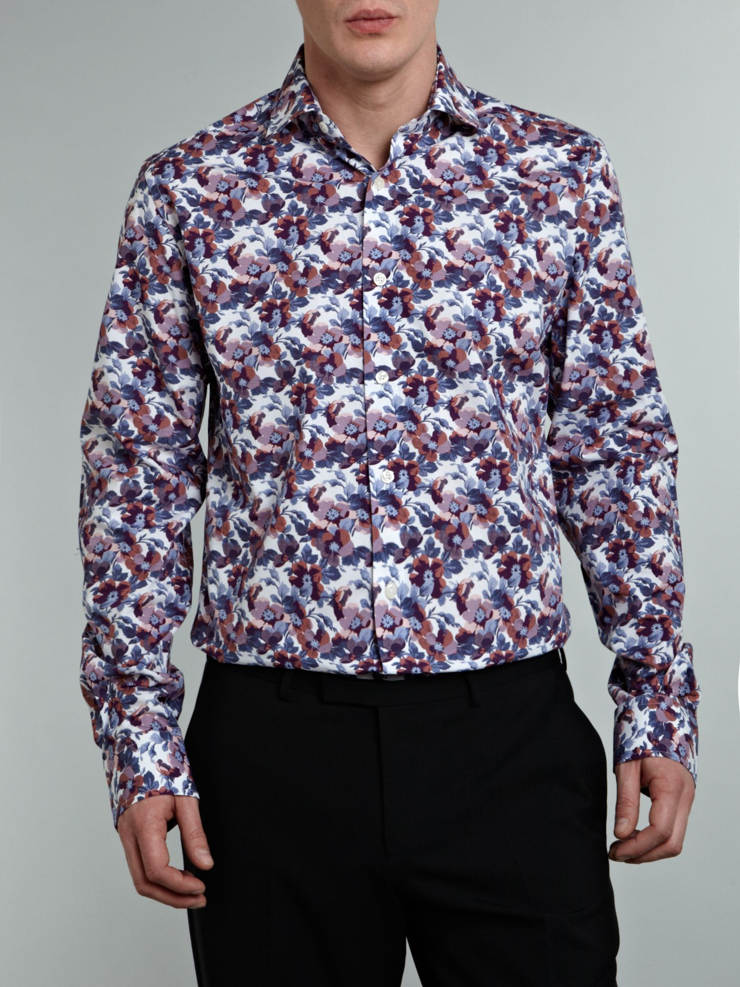 Long sleeve blooms printshirt