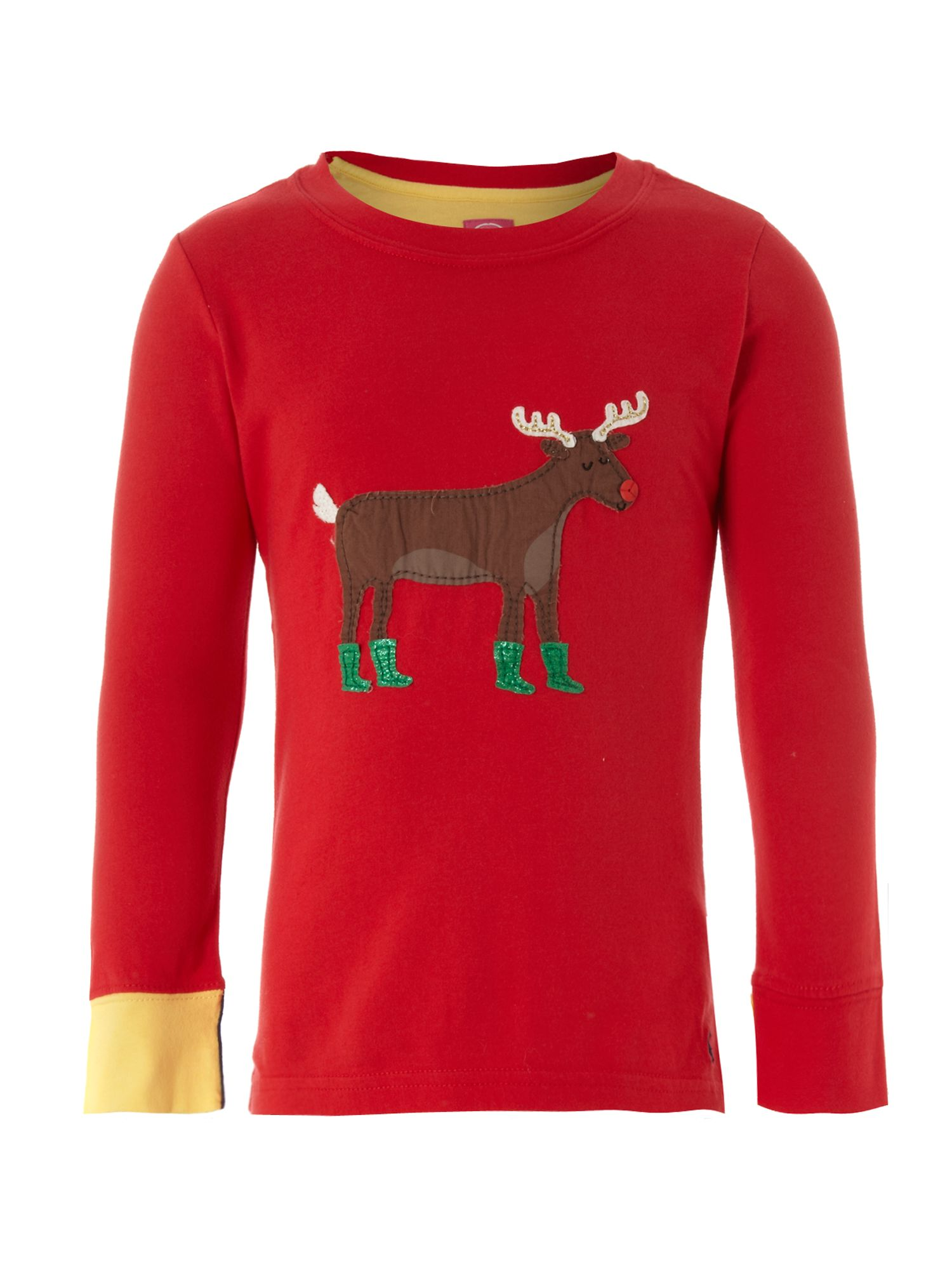 Girl`s Ava reindeer graphic T-shirt
