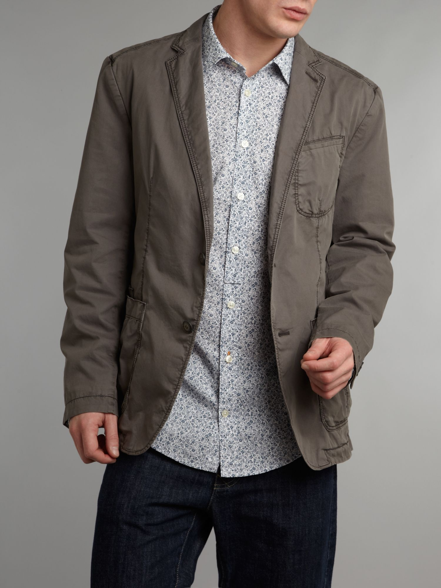Casual twill jacket