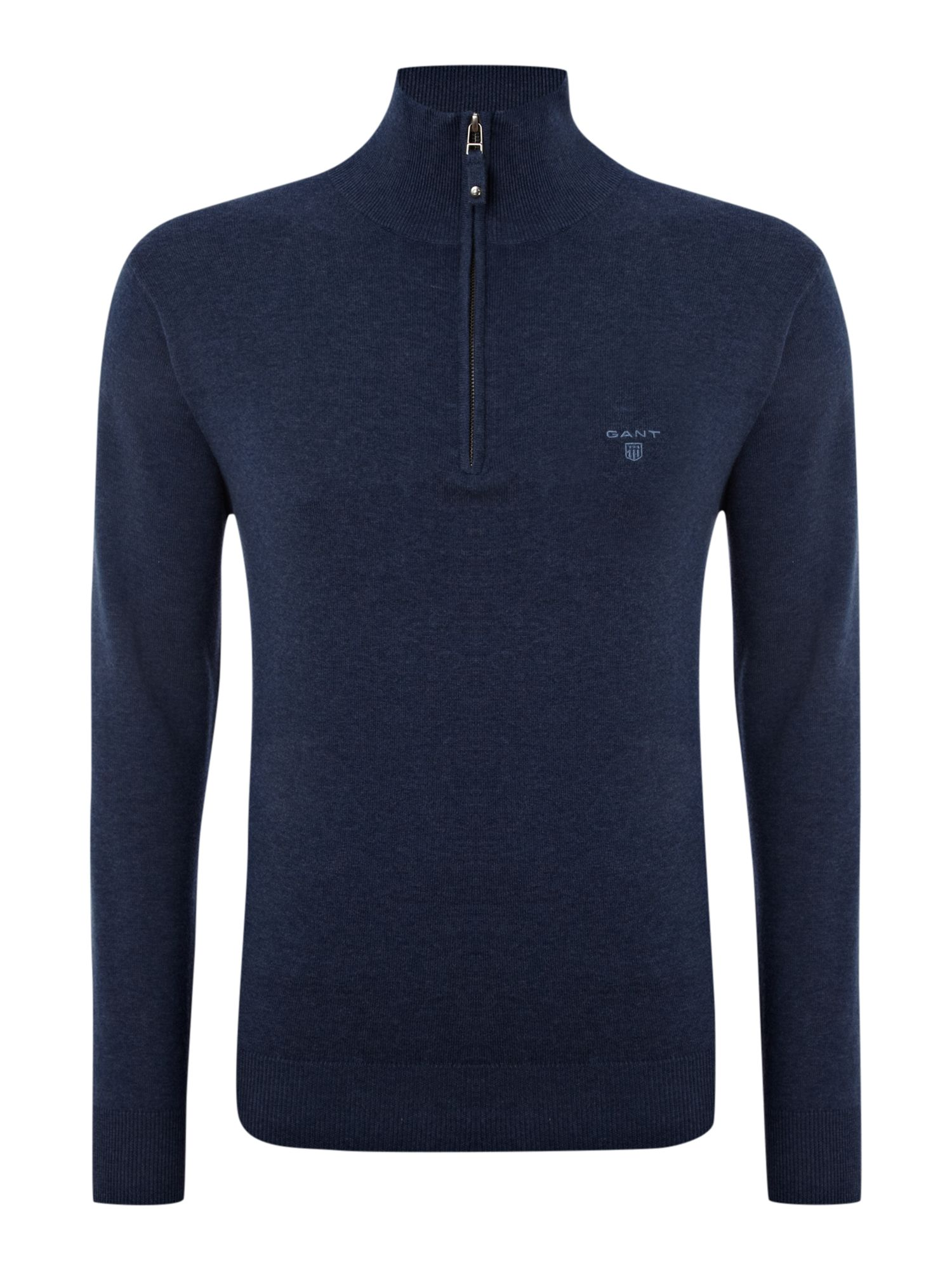 Cotton half zip jumper
