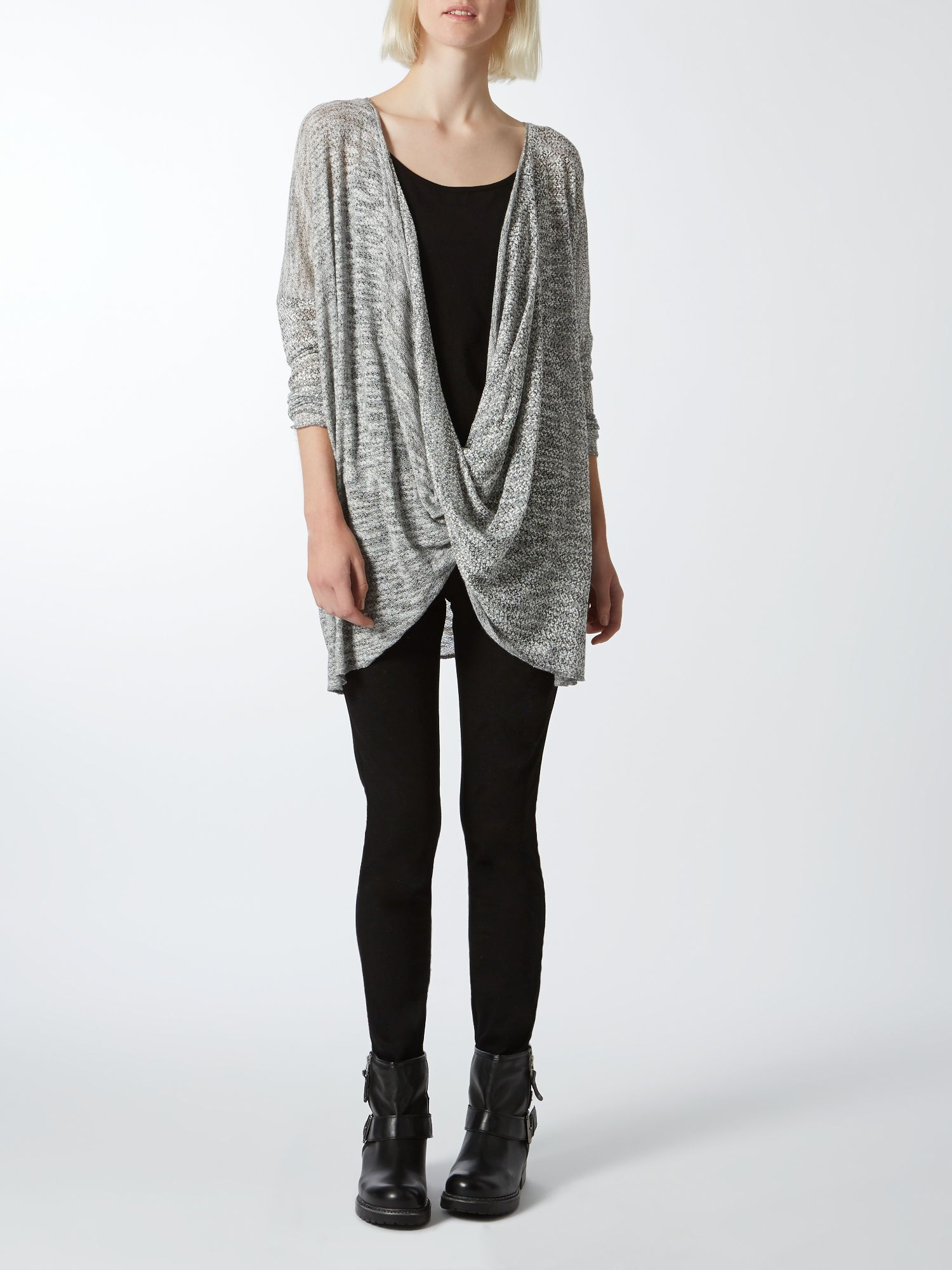 Marble twist knit cardigan