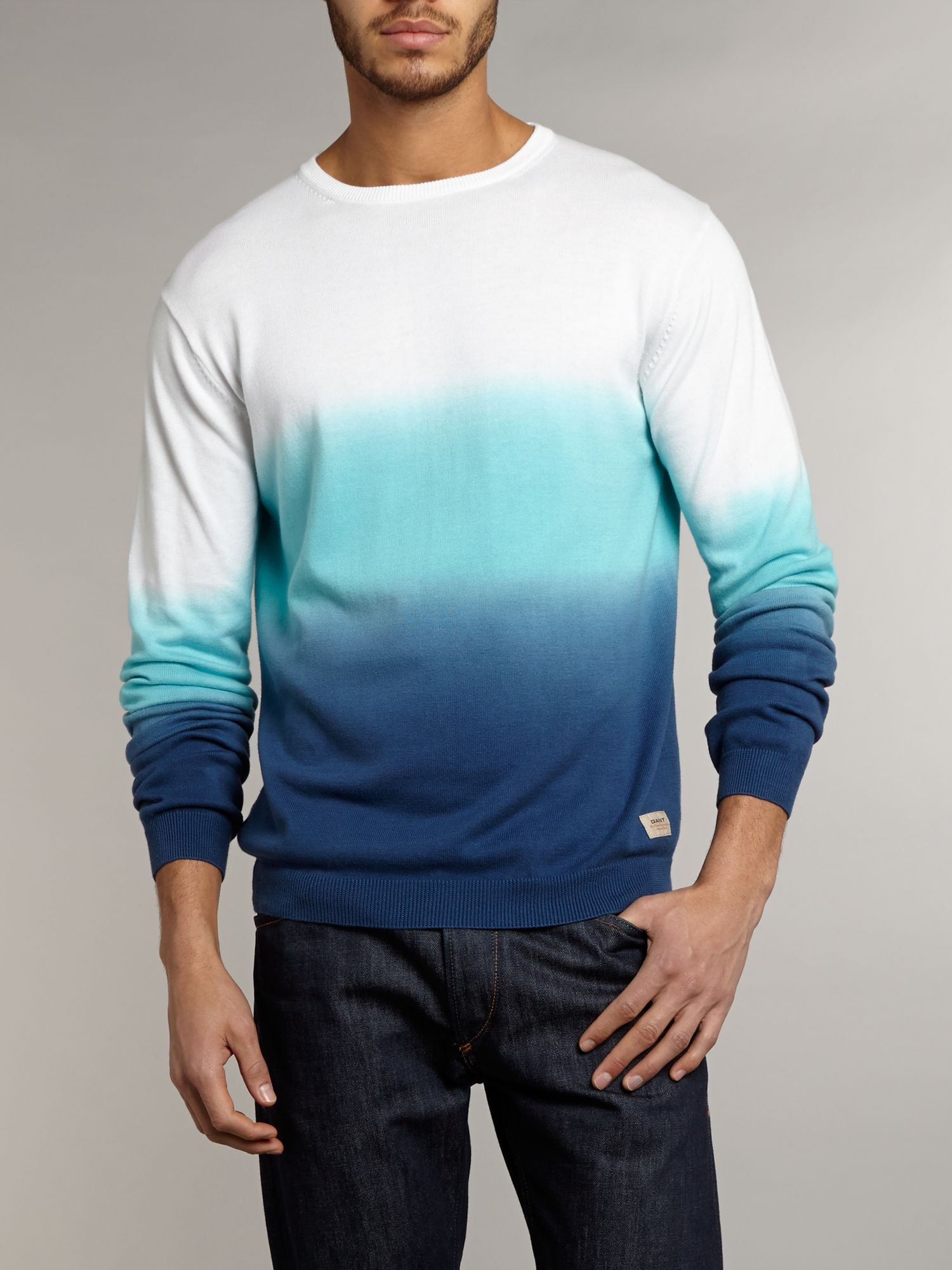 Cotton dip dye jumper