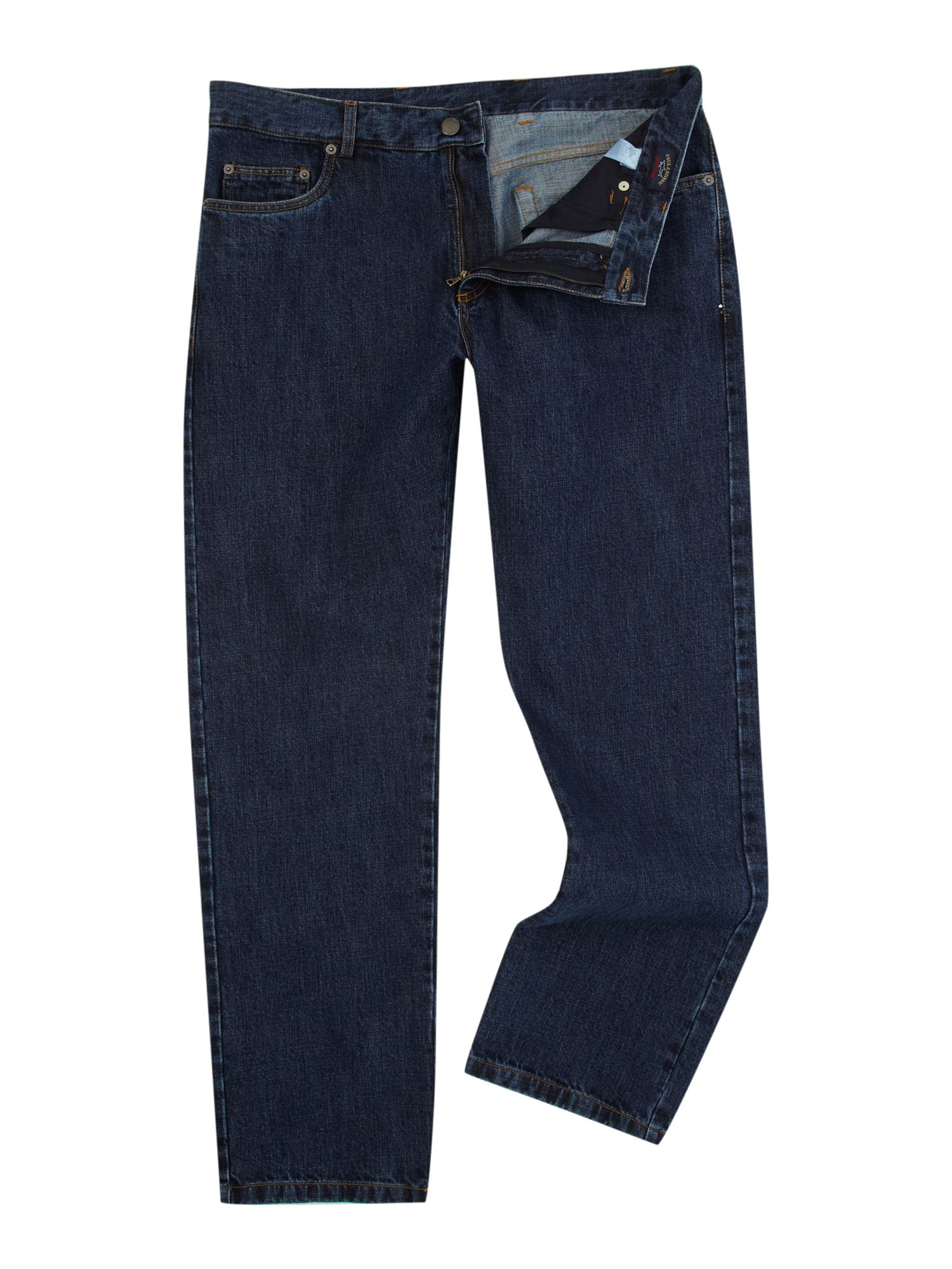 Paul & Shark Classic straight fitted jean`s, Denim Mid Wash