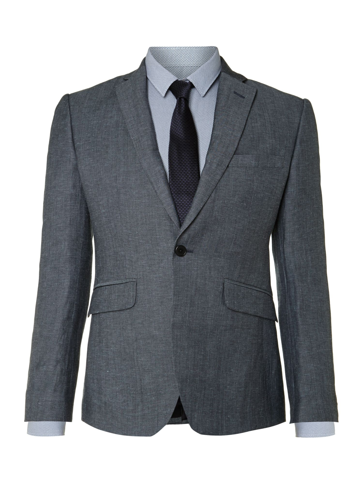 Dylan slim fit single button blazer