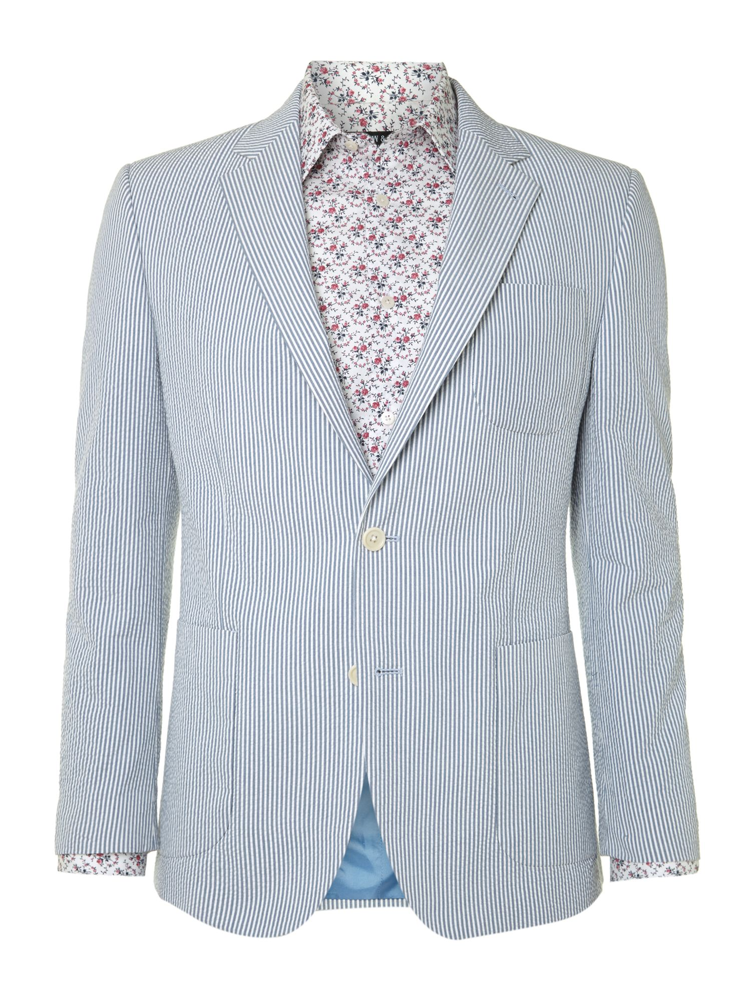 Boltons seersucker cotton blazer