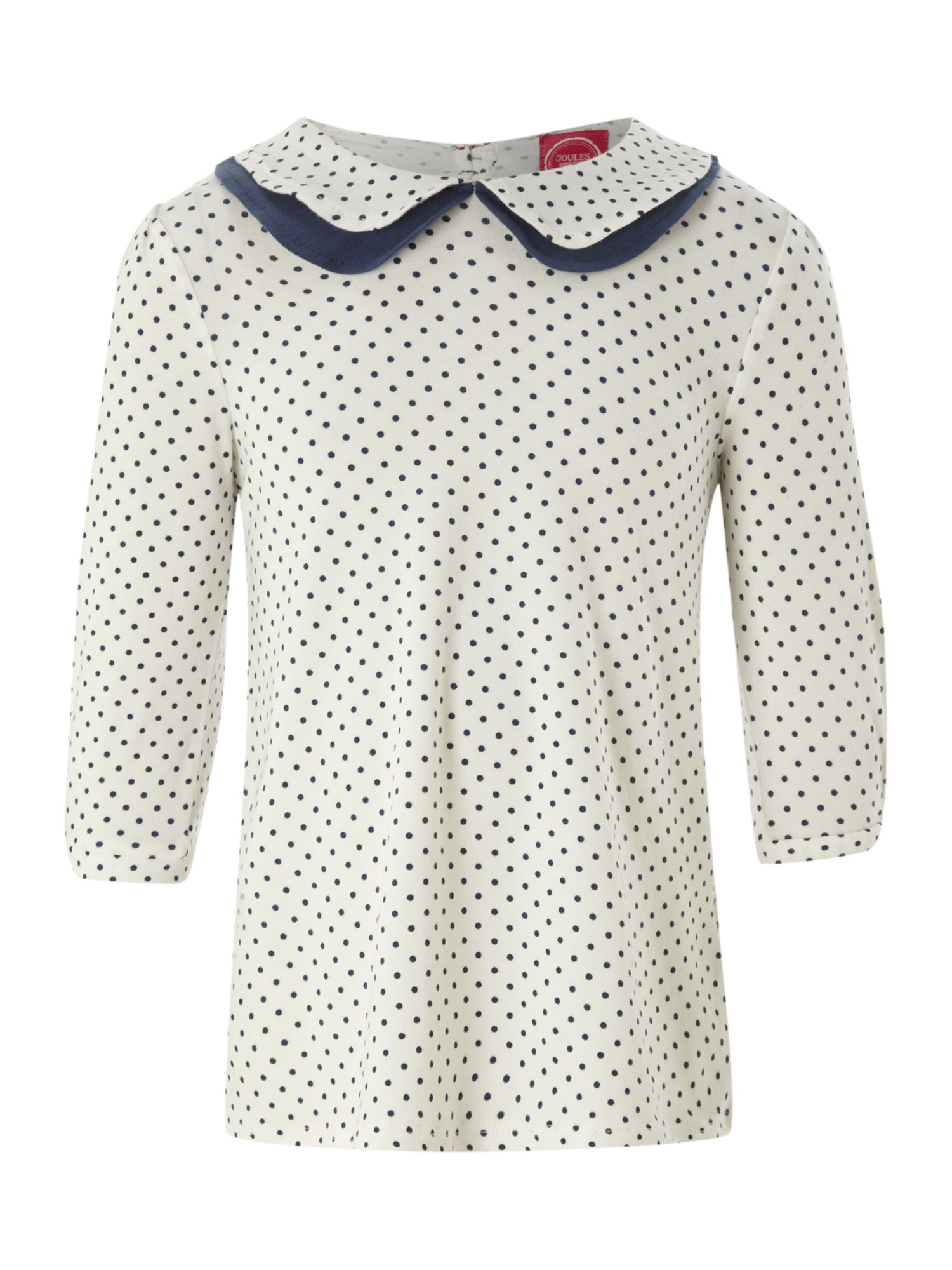Girl`s long-sleeved Pipsie spot top