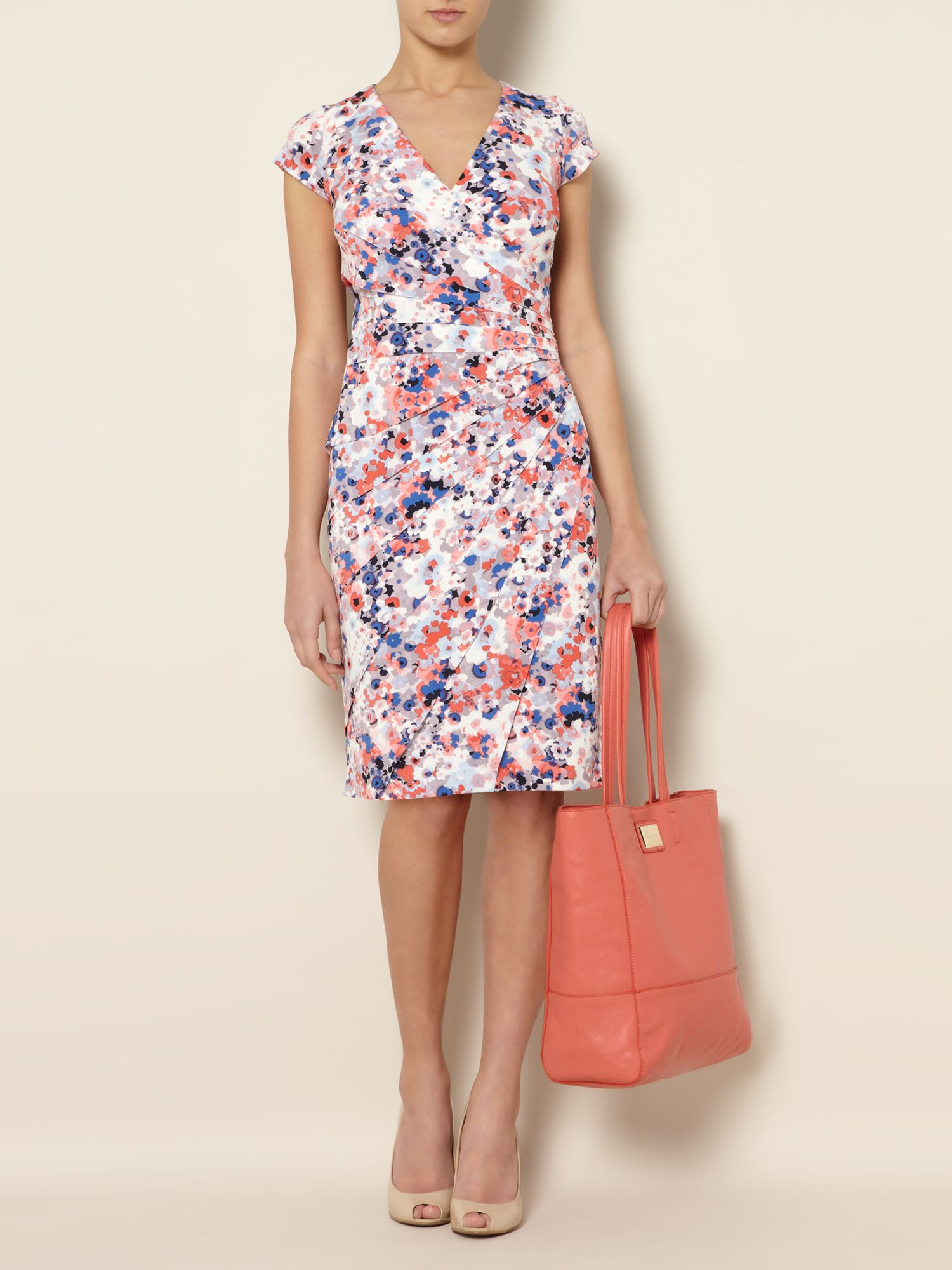 Printed sunray shutter dress