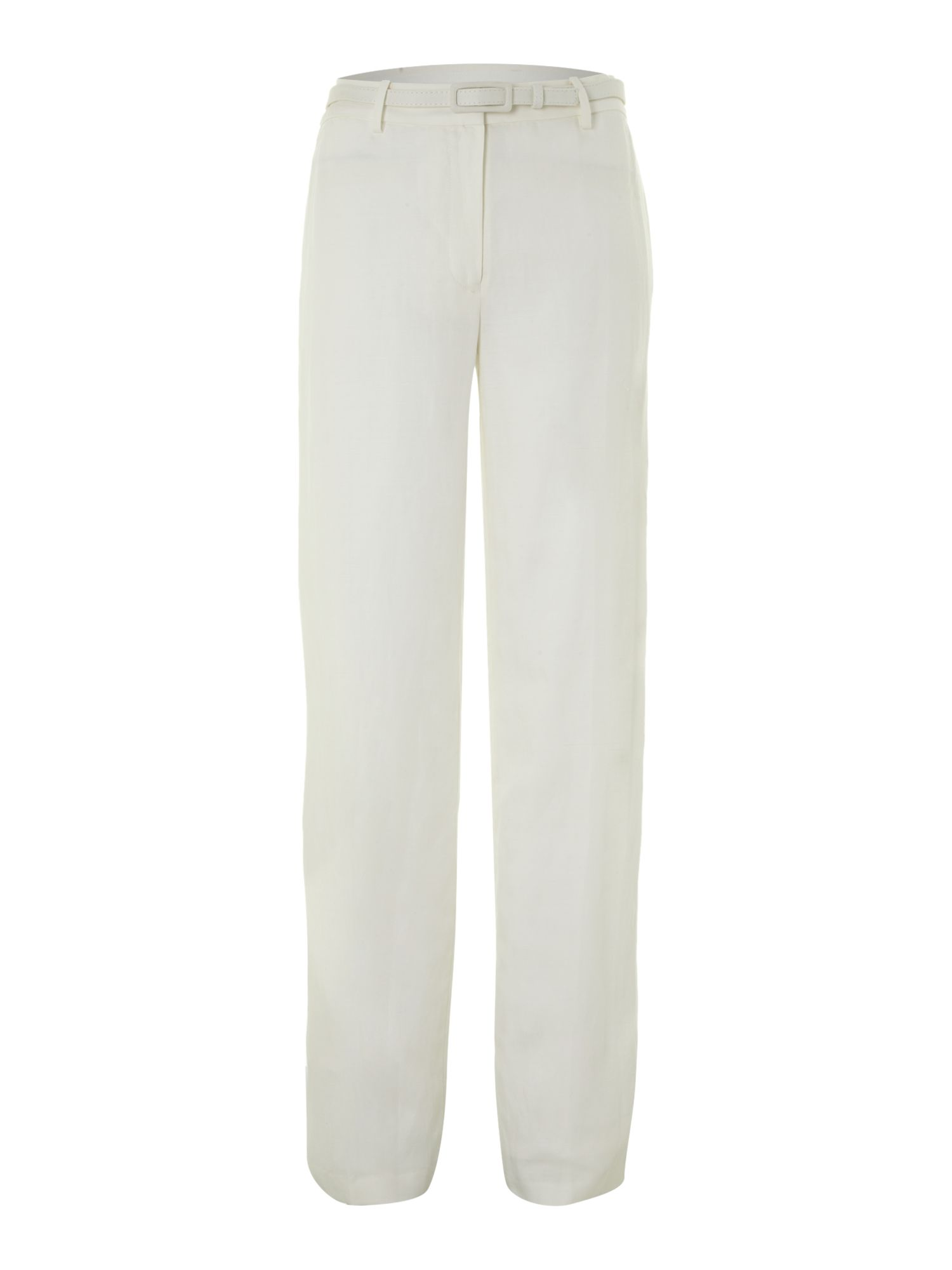 Wide leg linen trouser- Reg length