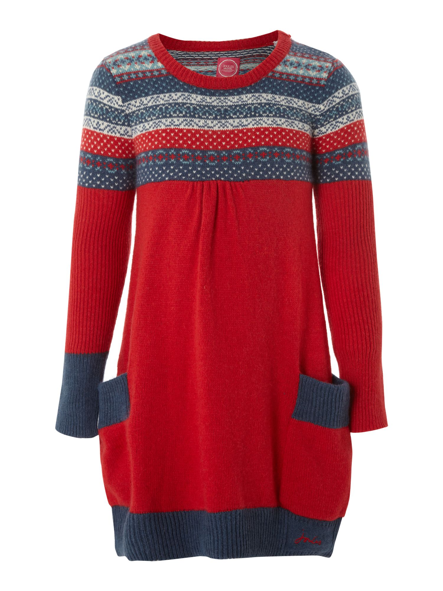 Girl`s fairisle knit Clarabell dress