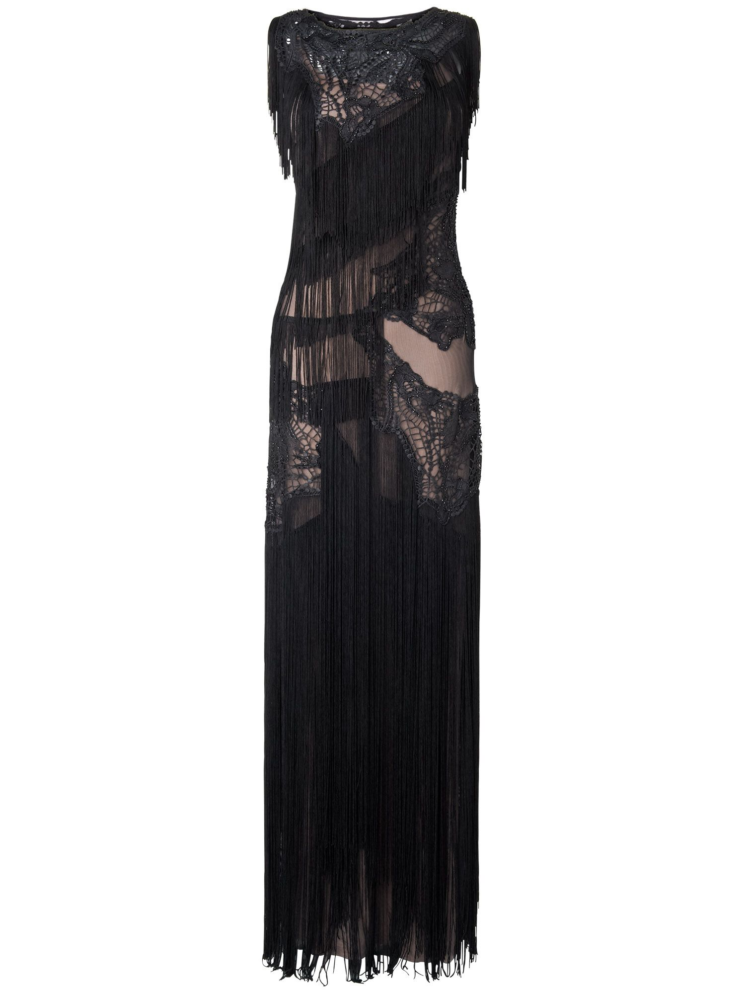 Tallulah fringed full length dress