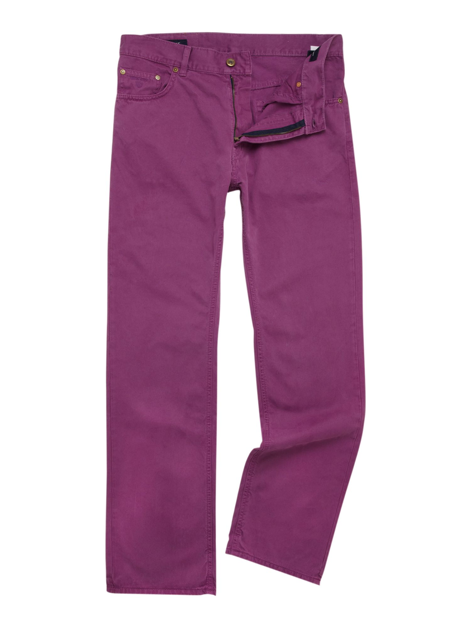 Regular fit cotton twill jeans