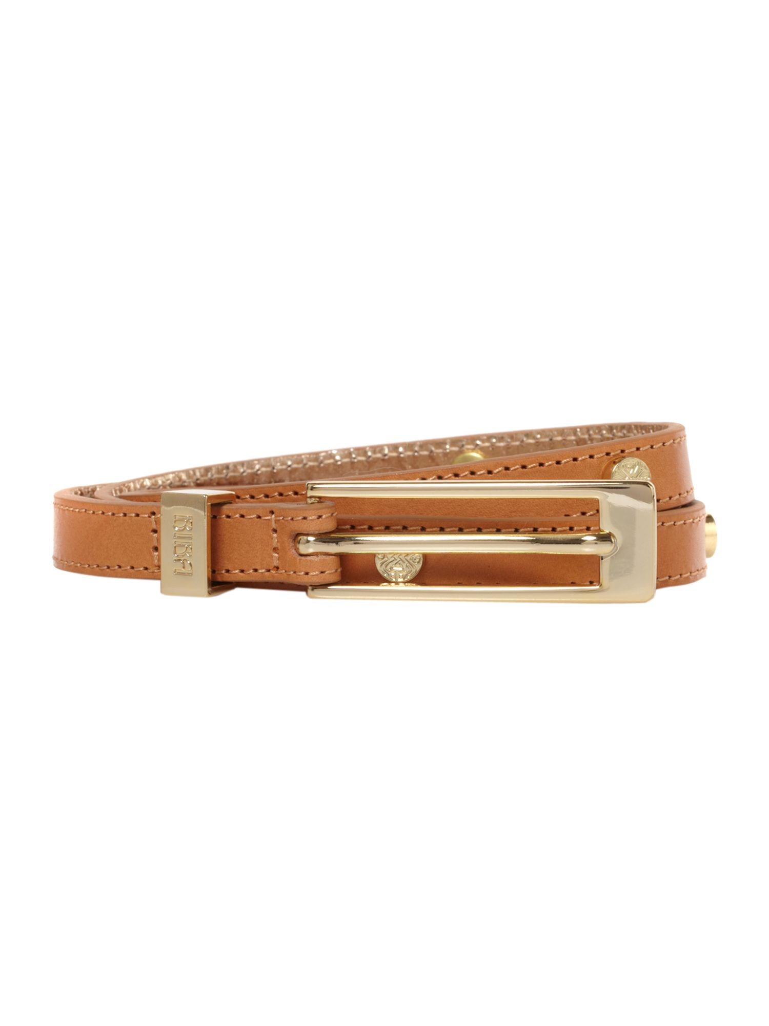Skinny belt with rivets