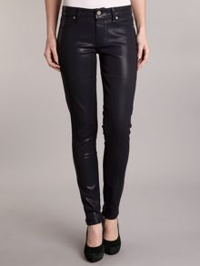 Verdugo ultra skinny coated jeans in Azure Silk