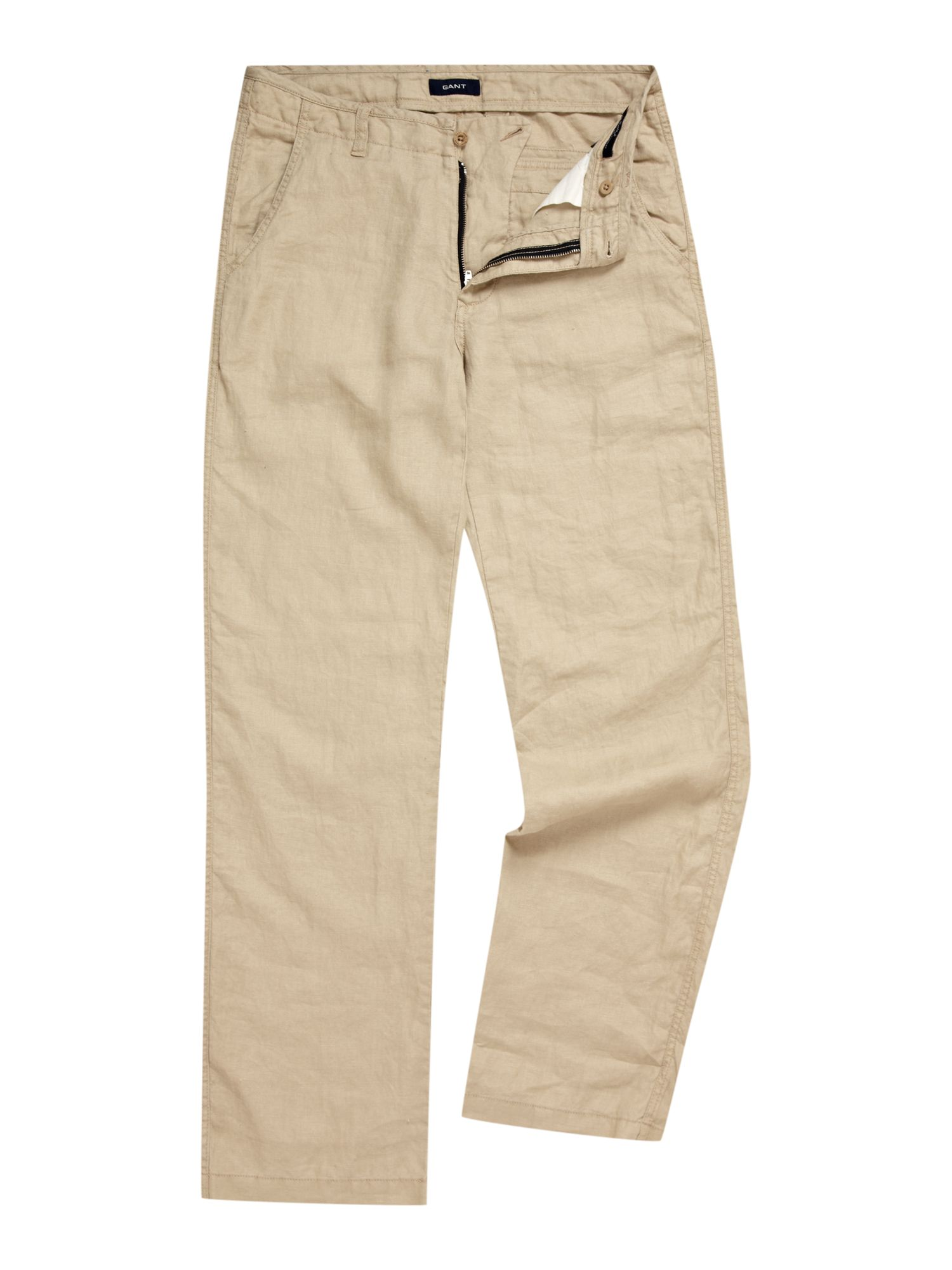 Straight cut linen chino