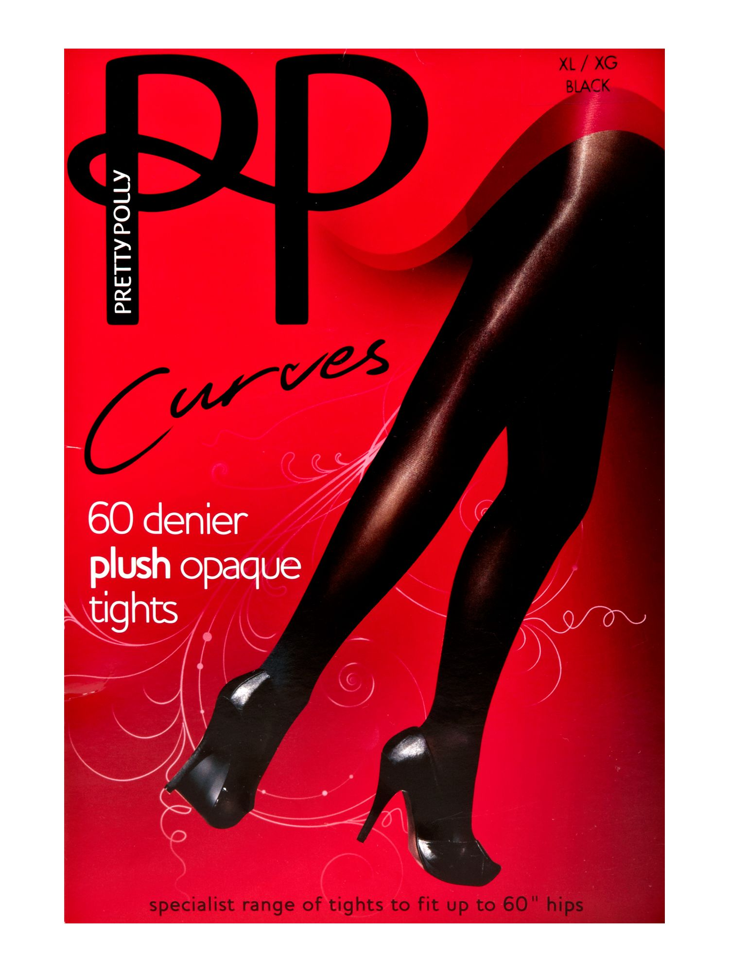 PP Curves 60 Denier plush opaque tights