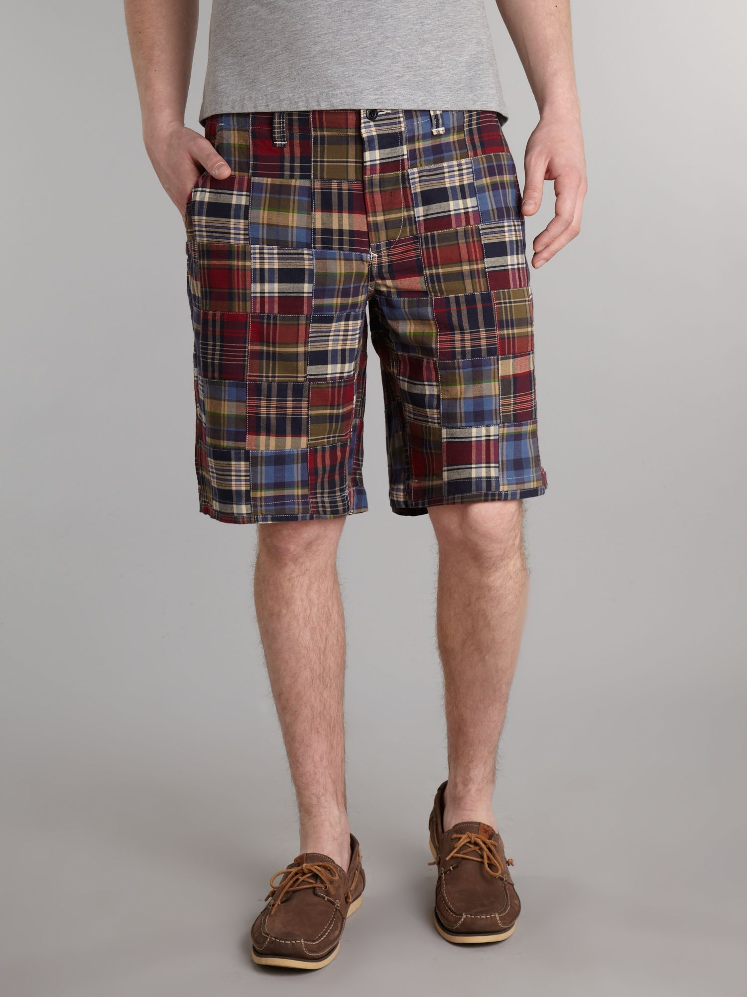 Patchwork bermuda shorts