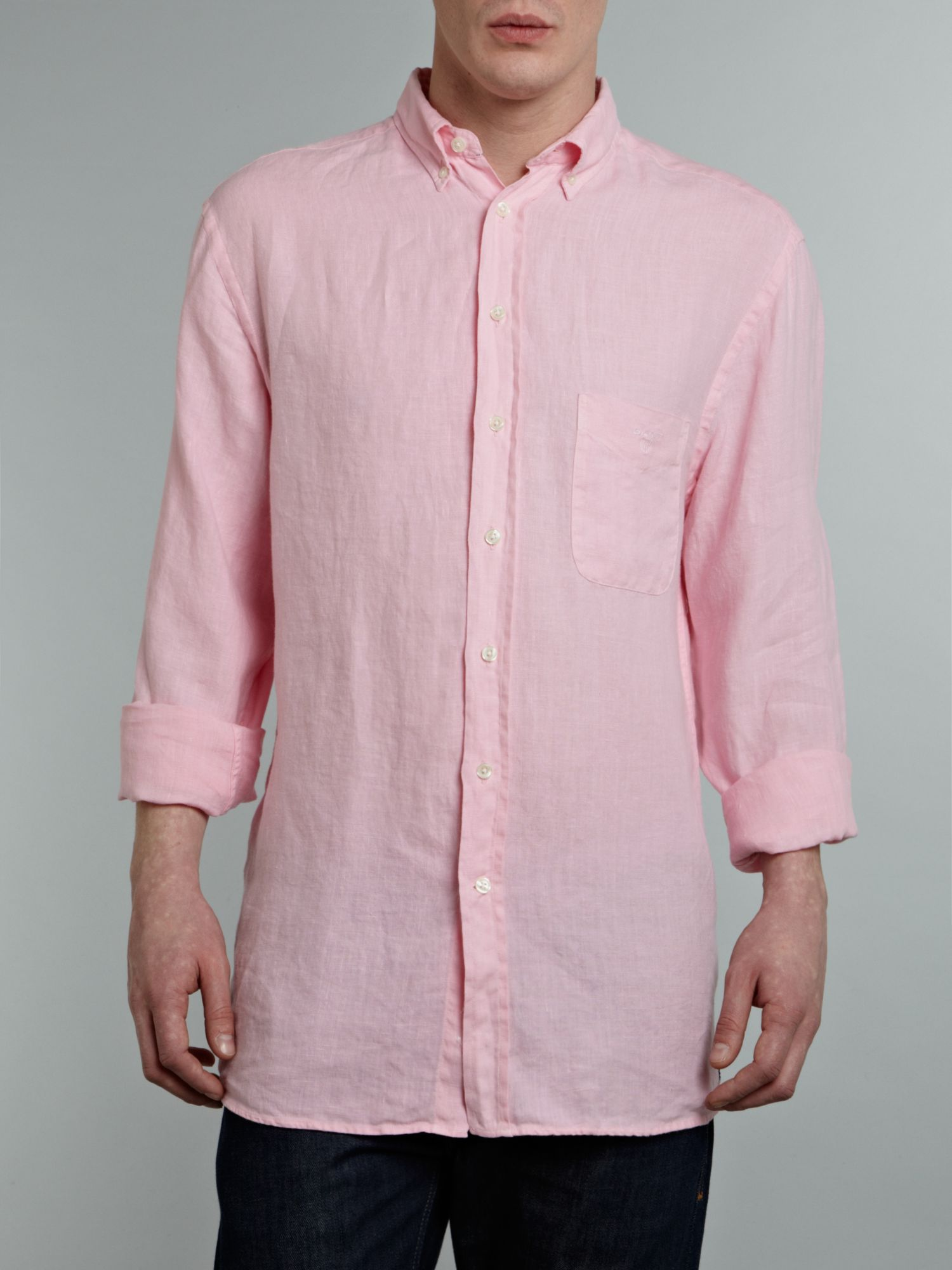 Long sleeved linen shirt