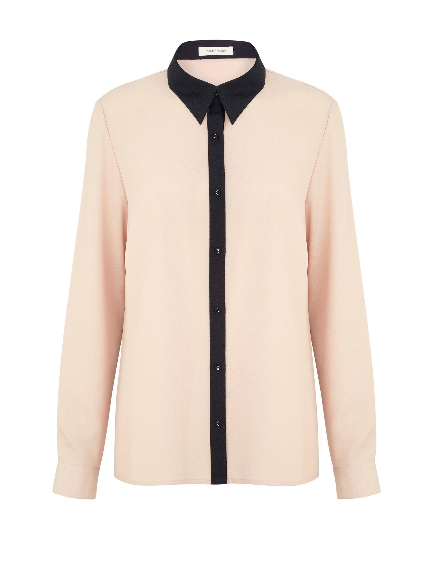 Blush Contrast Blouse