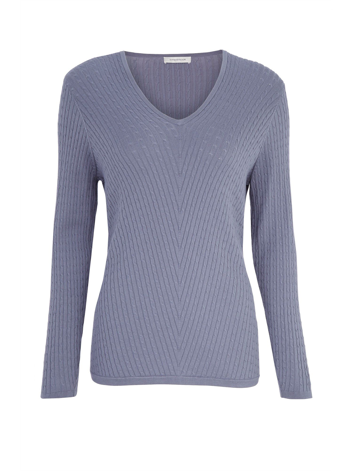 Steel Blue Cable Knit Jumper
