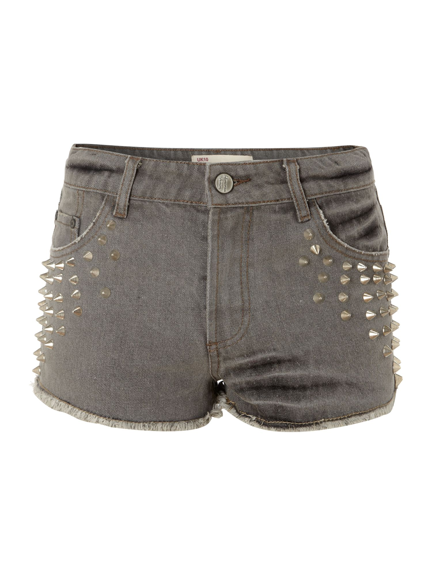 Acid wash stud short