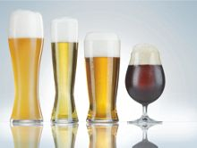 Beer connoisseur glasses, box of 4