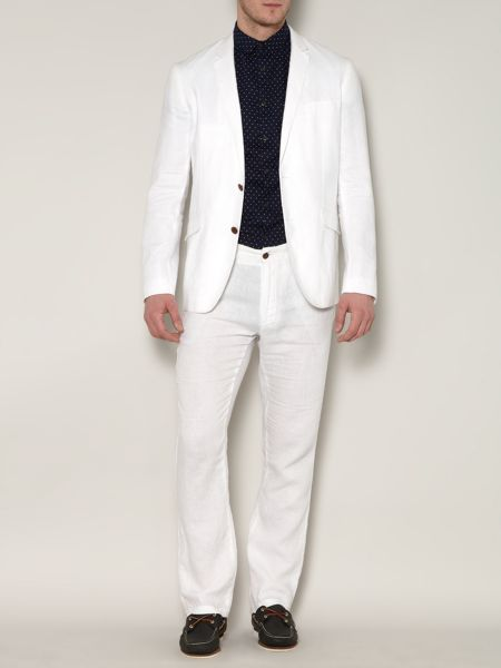 Linea Hunley tailored linen trousers