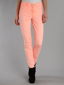 811 mid-rise skinny coloured jeans