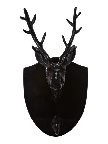 Living by Christiane Lemieux Stag head wall hook
