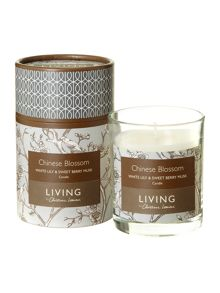 Chinese blossom boxed candle