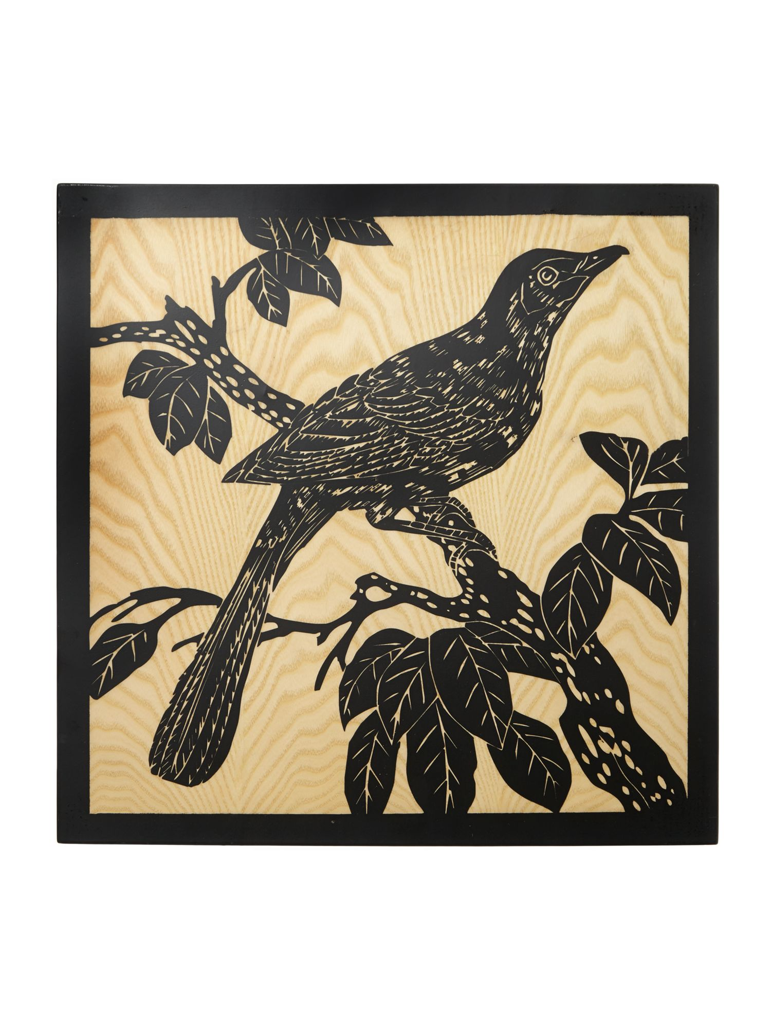 Carved Bird Wall Art