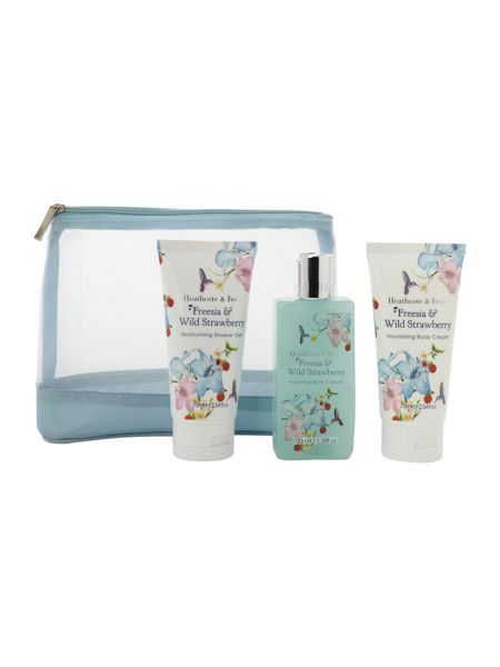 Heathcote & Ivory Freesia & Wild Strawberry Travel Essentials